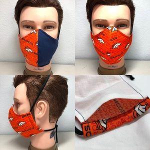 Other - 2 Broncos Face mask for men size L filter Pocket